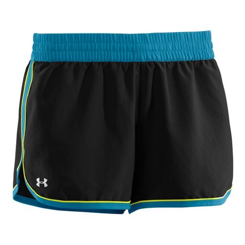 Womens Under Armour Great Escape II Lined Shorts - Black/Deceit XS