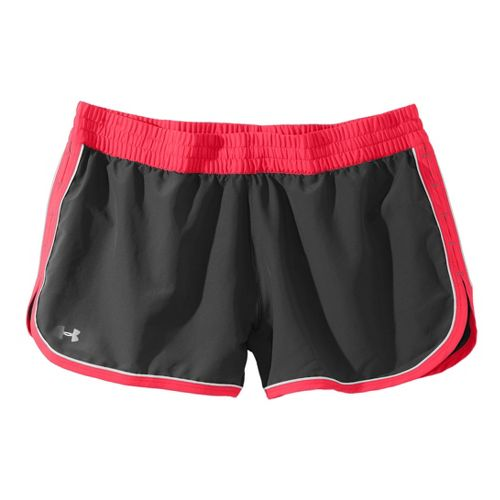 Womens Under Armour Great Escape II Lined Shorts - Black/Neo Pulse XL