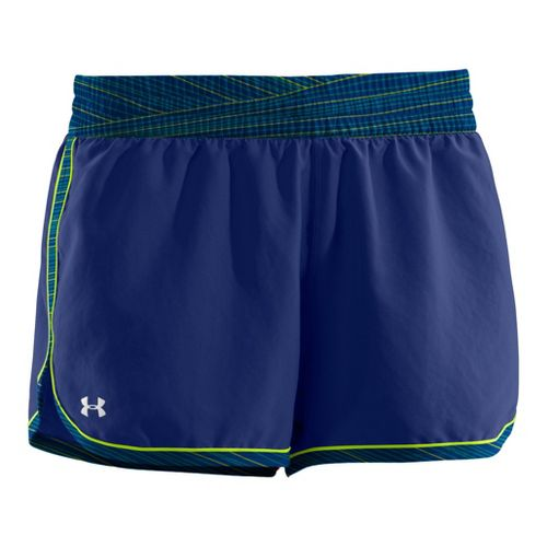 Womens Under Armour Great Escape II Lined Shorts - Blu-Away/Blu-Away S