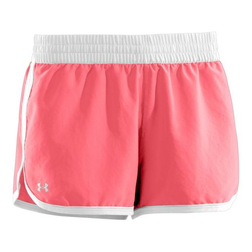 Womens Under Armour Great Escape II Lined Shorts - Brilliance/White S