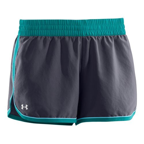 Womens Under Armour Great Escape II Lined Shorts - Black/Pink Shock XL