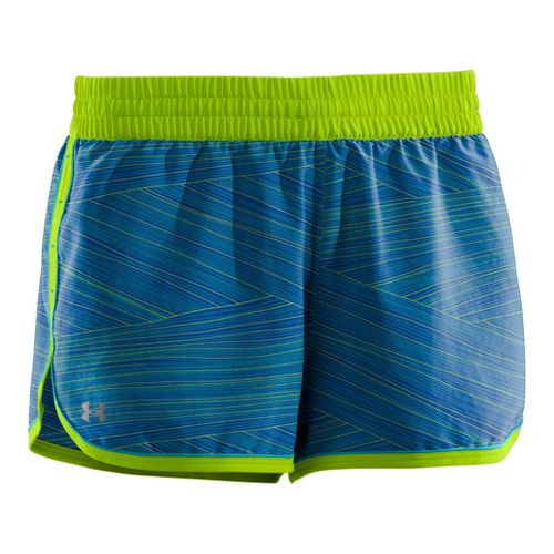 Womens Under Armour Printed Great Escape II 2-in-1 Shorts - Blu-Away/Cerulean M
