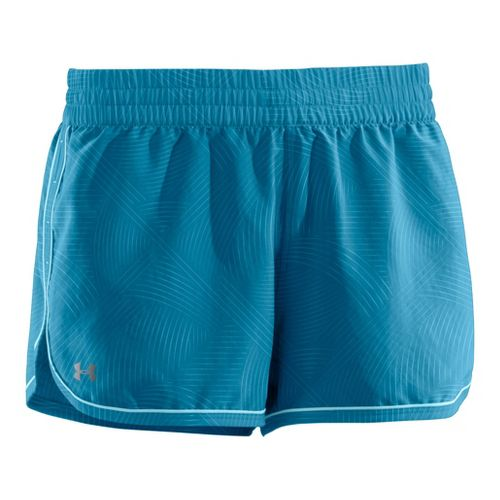 Womens Under Armour Printed Great Escape II 2-in-1 Shorts - Deceit/Deceit L