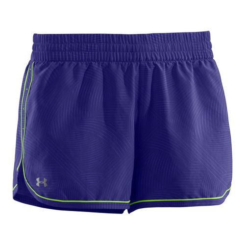 Womens Under Armour Printed Great Escape II 2-in-1 Shorts - Monarchy/Poison M