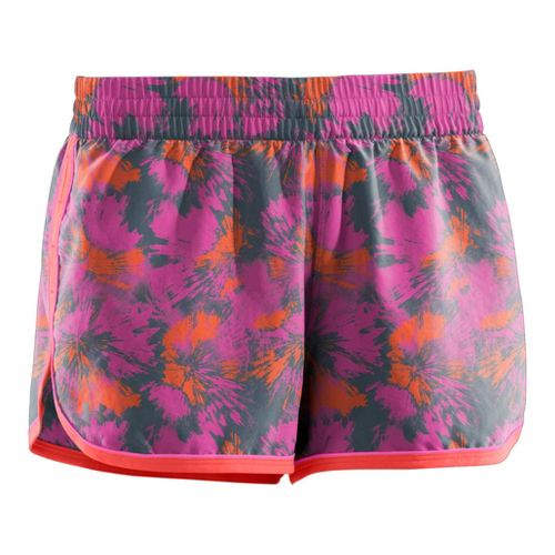 Womens Under Armour Printed Great Escape II 2-in-1 Shorts - Playful/Fire L