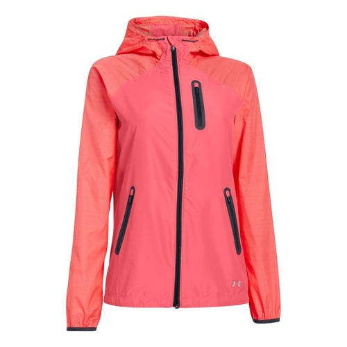 Womens Under Armour Qualifier Woven Warm-Up Hooded Jackets - Brilliance M