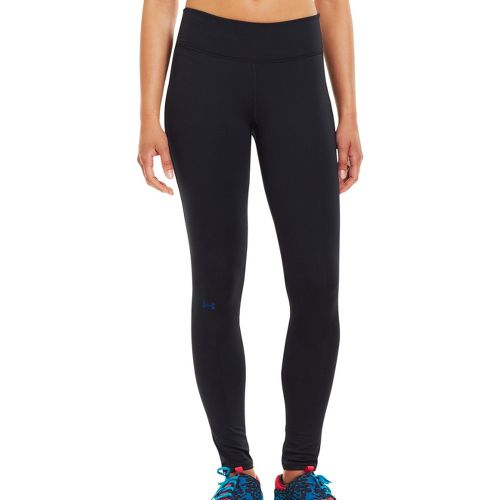 Womens Under Armour Qualifier ColdGear Fitted Tights - Black/Blu-Away L