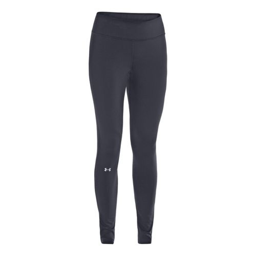 Womens Under Armour Qualifier ColdGear Fitted Tights - Lead/X-Ray L