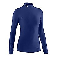 Womens Under Armour Coldgear Compression Mock Long Sleeve No Zip Technical Tops