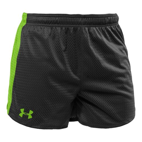Womens Under Armour Trophy 5 Lined Shorts - Black/Poison XL