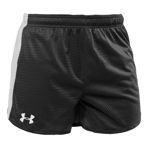 Womens Under Armour Trophy 5 Lined Shorts - Black/White XXL