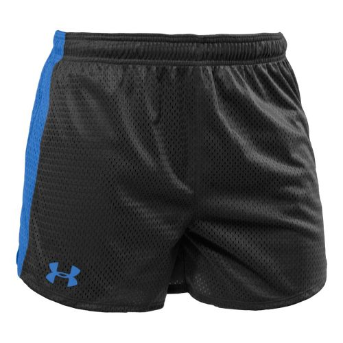 Womens Under Armour Trophy 5 Lined Shorts - Black/Water XS