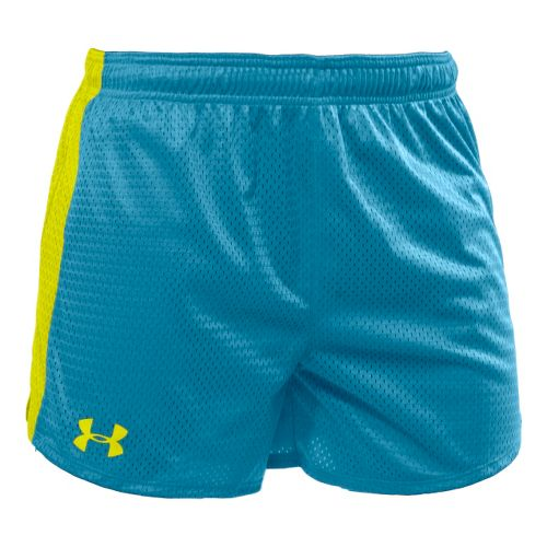 Womens Under Armour Trophy 5 Lined Shorts - Deceit/High Vis Yellow XS