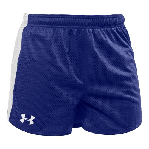 Womens Under Armour Trophy 5 Lined Shorts - Royal/White XL