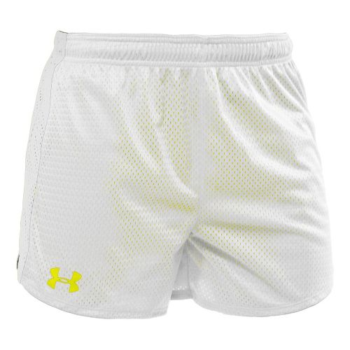 Womens Under Armour Trophy 5 Lined Shorts - White/White M