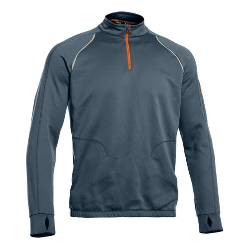 Mens Under Armour Coldgear Infrared 1/4 Zip Warm-up Jacket Long Sleeve Technical Tops - Bolt ...