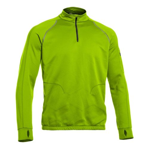 Mens Under Armour Coldgear Infrared 1/4 Zip Warm-up Jacket Long Sleeve Technical Tops - Hyper ...