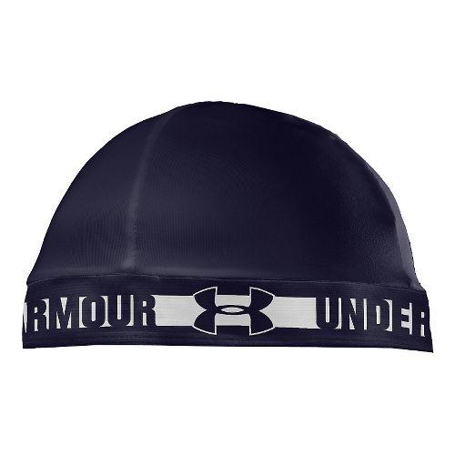 Mens Under Armour Original Skull Cap Headwear - Midnight Navy/White