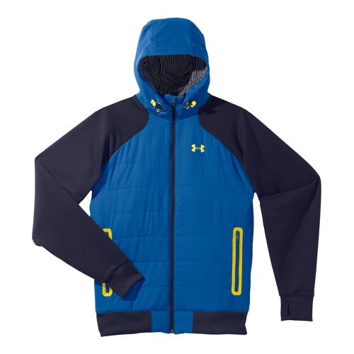 Mens Under Armour Coldgear Infrared Armour Fleece Hybrid FZ Hoody Warm-Up Hooded Jackets - ...