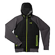 Mens Under Armour Coldgear Infrared Armour Fleece Hybrid FZ Hoody Warm-Up Hooded Jackets