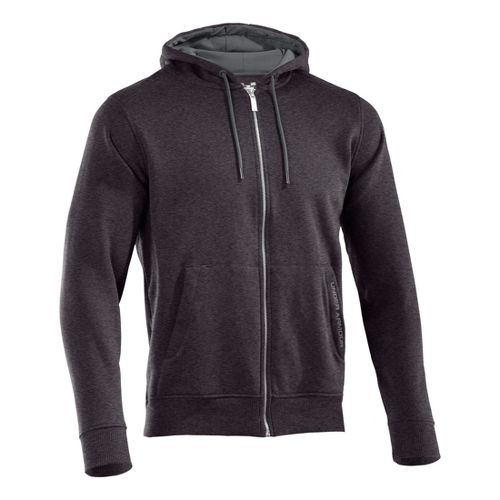 Mens Under Armour Charged Cotton Storm FZ Hoody Warm-Up Hooded Jackets - Carbon ...