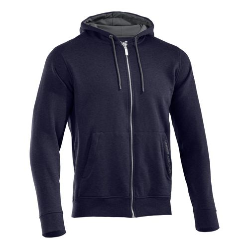 Mens Under Armour Charged Cotton Storm FZ Hoody Warm-Up Hooded Jackets - Midnight Navy/Graphite ...