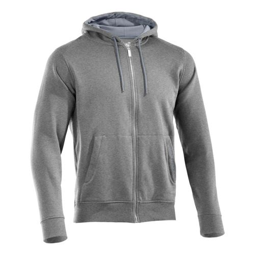 Mens Under Armour Charged Cotton Storm FZ Hoody Warm-Up Hooded Jackets - True Grey ...
