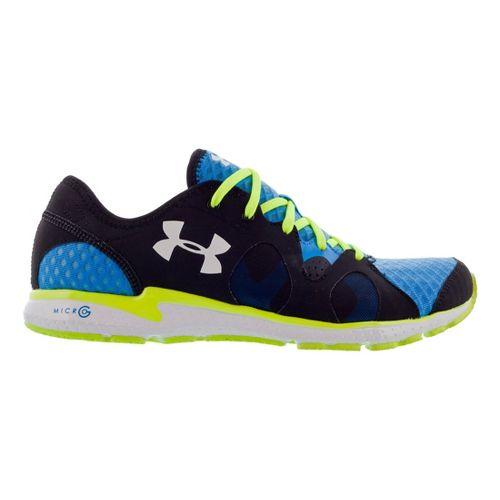 Mens Under Armour Micro G Neo Mantis Running Shoe - Electric Blue/Neon 9.5