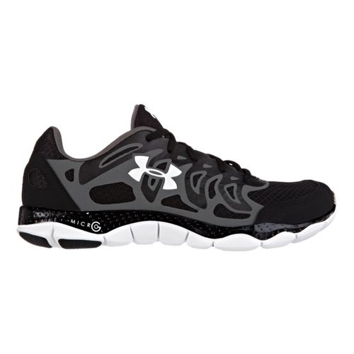 Mens Under Armour Micro G Engage Running Shoe - Black 8