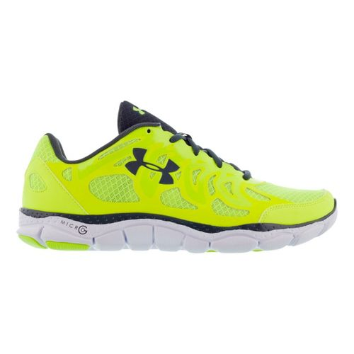 Mens Under Armour Micro G Engage Running Shoe - High Vis Yellow 10.5