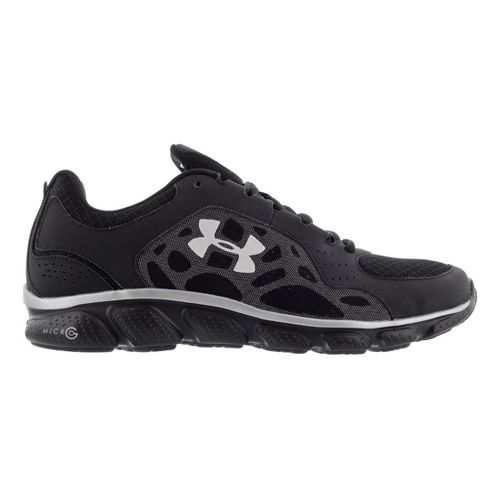Mens Under Armour Micro G Assert IV Running Shoe - Black 9.5