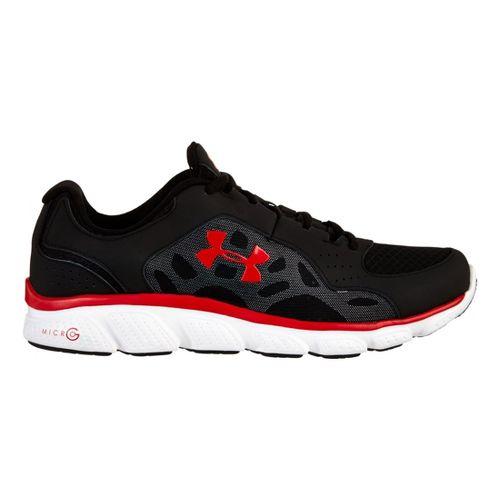 Mens Under Armour Micro G Assert IV Running Shoe - Black/Red 12.5