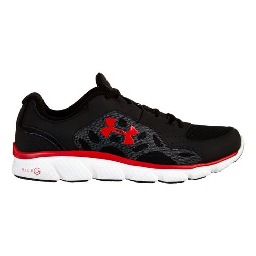 Mens Under Armour Micro G Assert IV Running Shoe - Black/Red 15