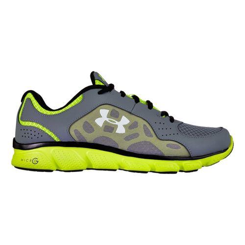 Mens Under Armour Micro G Assert IV Running Shoe - Graphite/Neon 14