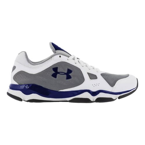 Mens Under Armour Micro G Pulse TR Cross Training Shoe - White/Charcoal 11.5