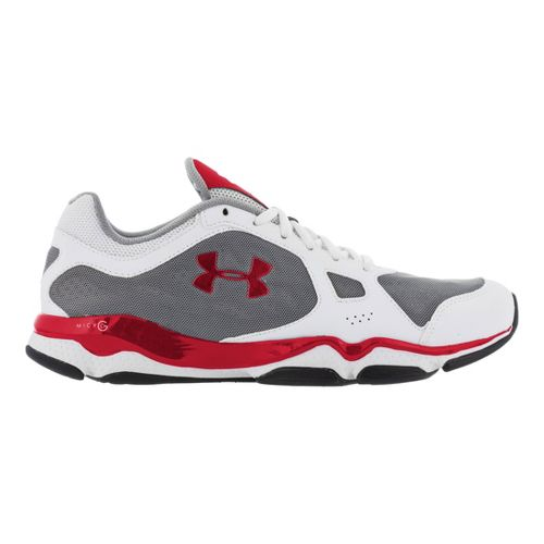 Mens Under Armour Micro G Pulse TR Cross Training Shoe - White/Red 10.5