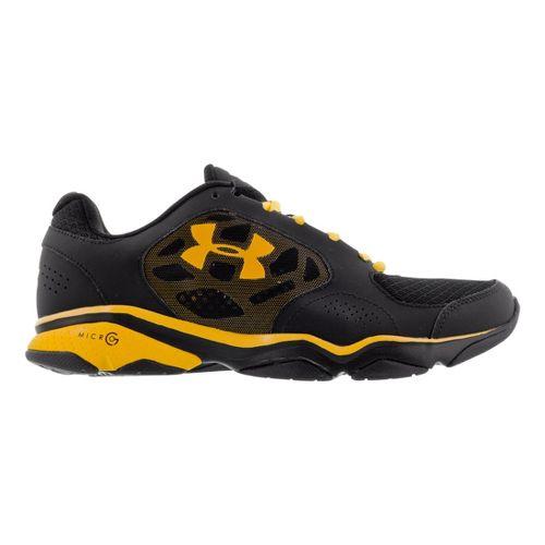 Mens Under Armour TR Strive IV Cross Training Shoe - Black/Taxi 8.5
