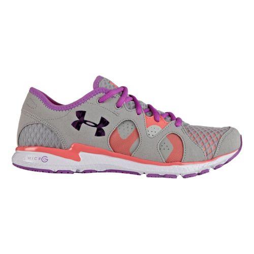 Womens Under Armour Micro G Neo Mantis Running Shoe - Aluminum/Purple 8