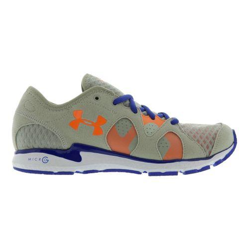 Womens Under Armour Micro G Neo Mantis Running Shoe - Aluminum/Blue 10