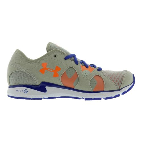 Womens Under Armour Micro G Neo Mantis Running Shoe - Aluminum/Blue 5