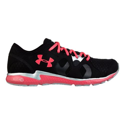 Womens Under Armour Micro G Neo Mantis Running Shoe - Black/Pink 9.5
