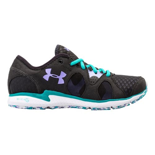 Womens Under Armour Micro G Neo Mantis Running Shoe - Black/Turquiose 5