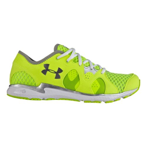 Womens Under Armour Micro G Neo Mantis Running Shoe - Hi-Viz Yellow 10