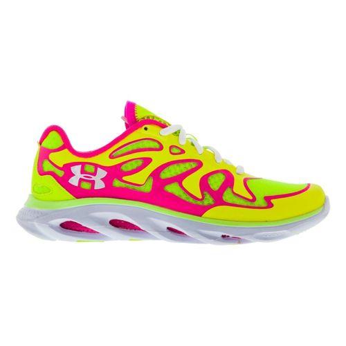 Womens Under Armour Micro G Spine Evo Running Shoe - High Vis Yellow 6.5