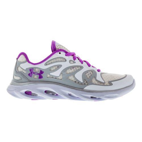 Womens Under Armour Micro G Spine Evo Running Shoe - White/Purple 5.5