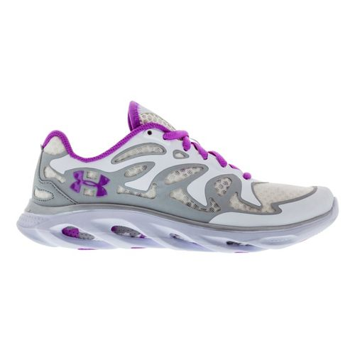 Womens Under Armour Micro G Spine Evo Running Shoe - White/Purple 6