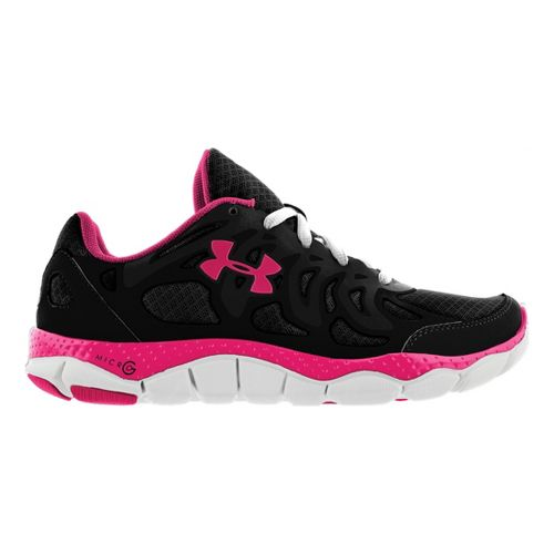 Womens Under Armour Micro G Engage Running Shoe - Black/Pink 7.5
