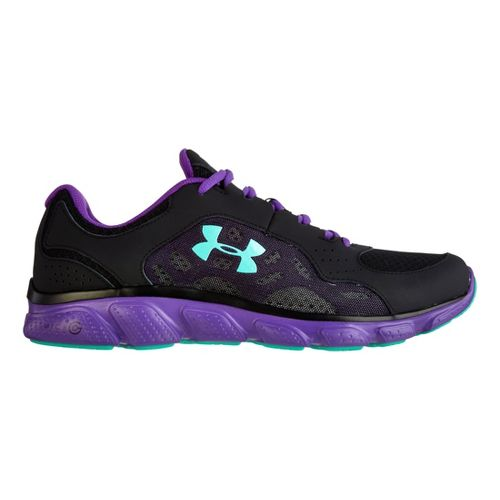 Womens Under Armour Micro G Assert IV Running Shoe - Black 10