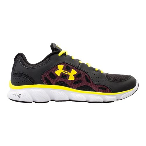 Womens Under Armour Micro G Assert IV Running Shoe - Black/Neo Pulse 8.5