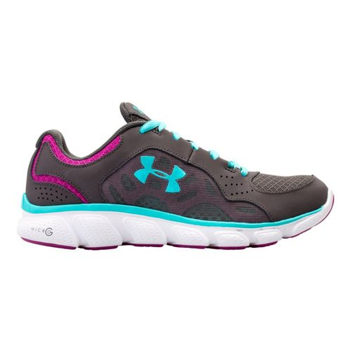 Womens Under Armour Micro G Assert IV Running Shoe - Charcoal 9.5